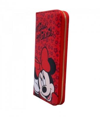 Carteira Vermelha Com Rosto E Assinatura Da Minnie Mouse Da Disney